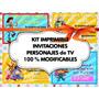 Kit Imprimible Y Modificable Invitaciones De Cumples2x1