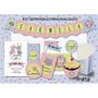 Kit Imprimible Gatito Y Conejito Cumpleaños Personalizado