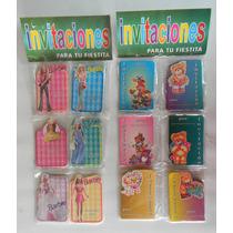 Invitacion De Cumpleaños Barbie X20und Tarjeta Infantil