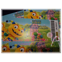 Tarjetas Ticket - Invitación Cumpleaños Infantil 15años