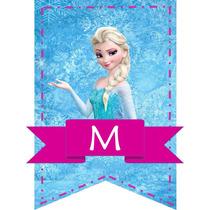 Banderines Personalizados Mesa Dulce Frozen