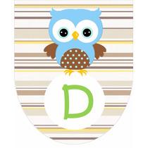 Banderines Personalizados Mesa Dulce Buho Baby X 8 Piezas