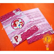 La Sirenita Ariel Princesas Invitacion Cumpleaños