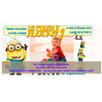 Tarjeta Cumpleaños Minions Personalizada Con Foto