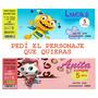 Invitaciones Tarjetas Ticket Infantiles Personalizadas Fotos