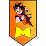 Banderines Personalizados Mesa Dulce Dragon Ball Pokemon