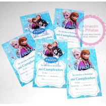 Invitaciones Personalizadas Para Cumple Frozen, Elsa, Anna