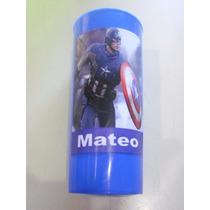 Vasos Plasticos Personalizados Capitan America Lavables 10u
