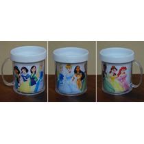 Lote 10 Tazas Princesas Disney Plasticas Personalizadas