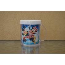 Lote 10 Tazas Mickey Y Minnie Disney Plastica Personalizada