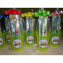 Vasos Minions Plásticos Personaliz.c/ Cep.de Dientes X 10 Un