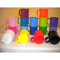 Tazas Plasticas Exc Calidad Aptas Microondas $ 10c/u