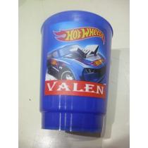 Vasos Plasticos Personalizados Hot Wheels Lavables 10u
