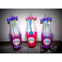 Vasos Plásticos Personaliz.c/ Cepillo Dientes Combo X 40 Uni