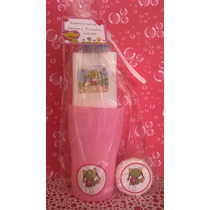 Souvenir Vaso + Toalla Estampada + Cepillo De Dientes +jabón