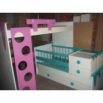 Cuna Funcional-cama Puente-escalera- Baranda Colores Libres
