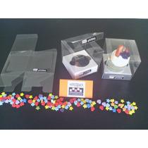Caja Transparente Pvc (tipo Acetato ) (25u) P/cupcake Indivi