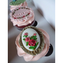 Cupcakes Decorados Premium Shabby Chic Vintage Románticos