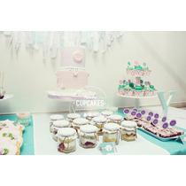Shabby Chic Mesa Dulce, Cupcakes, Torta Temática, Cookies