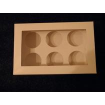 Cajas Con Visor Y Soporte Para 6 Unidades De Cupcakes!