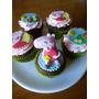 Cupcakes Peppa Pig Tortas Decoración En Azúcar Comestible