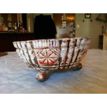 Hermoso Centro De Mesa De Ceramica Rustica
