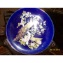 Liquido Plato Porcelana Azul Cobalto. Pavos Reales (baiut)