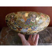 Bowl Centro Mesa Satsuma Ceramica Arte Oriental Japon Oferta