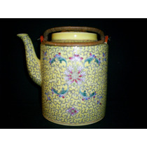 Antigua Tetera De Porcelana Oriental