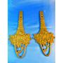 El Arcon Par De Perchas De Bronce Labradas 18,8cm 7531