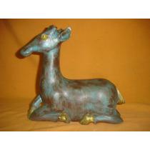 Escultura En Madera Bambi Decoracion Vintage ((01103)f