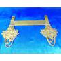 El Arcon Antigua Percha Doble De Bronce Labrado Flores 24057