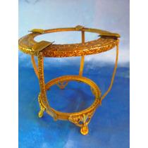 El Arcon Antiguo Soporte Bronce Para Pieza De Cristal 14072