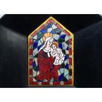 Hist.*- Importante Virgen Firmada Esmalte Cloisonne -envío