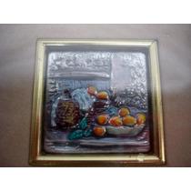 Cuadro Plata 925 Miniatura Firmado Sellada Coleccion(01210x)