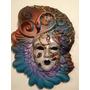 Preciosa Única Máscara Veneciana Auténtica Venecia Arte