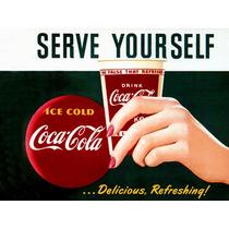 Carteles Antiguos En Chapa Gruesa 20x30cm Coca Cola Dr-015
