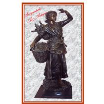Escultura En Petit Bronce Francesa De A. T. Scotte (1032)