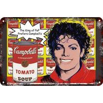 Carteles Antiguos Chapa 60x40cm Campbells Andy Warhol Al-014