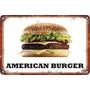 Carteles Antiguos De Chapa 60x40cm Burger Hamburguesa Al-049