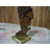 Estatuilla Busto Con Base De Marmol Onix