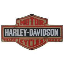 Carteles Antiguo Chapa Gruesa 25x15cm Harley Davidson A-073