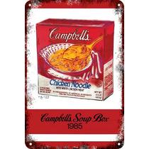 Carteles Antiguos Chapa 60x40cm Campbells Andy Warhol Al-020
