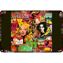 Carteles Antiguos Chapa 60x40cm Campbells Andy Warhol Al-013