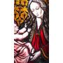 Vitreaux Virgen Antigua Pintado A Fuego Armado En Plomo
