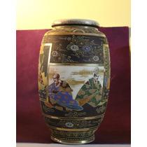 Jarrón Porcelana Japonesa Satsuma. Certificado ( 150744)