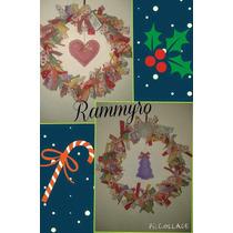 Navidad Rosca Para La Puerta Artesanal