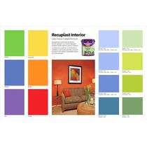 Pintura Latex Interior Lavable En Colores Recuplast 1 Litro