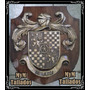 Escudo Heráldico Tallado En Madera Diseño Unico