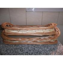 Bandeja De Mimbre,canasto Para Desayuno 50 X 35cm